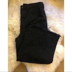 Madewell wide leg crop black jeans